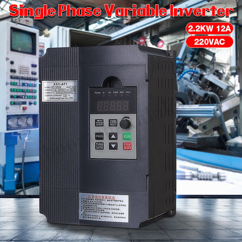 2.2kW 12A 220V AC Single To 3 Drive Variable Frequency VFD InGrüner Phase VSD