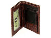 Men's Crocodile Embossed Brown Bifold Wallet