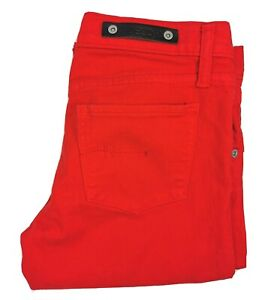 Nobody-Red-Womens-Skinny-Leg-Jeans-Size-28-Stretch-Cotton-Low-Waist