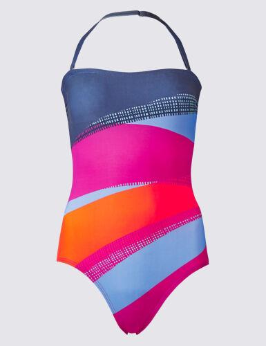 M /& S Collezione Secret snellente Colore Blocco Blu Mix Costume Da Bagno