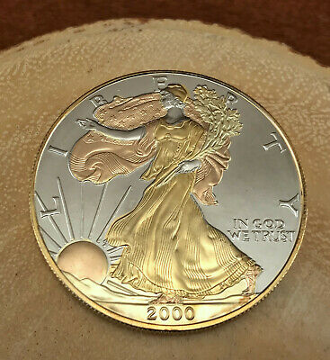 2000 tri color us silver eagle