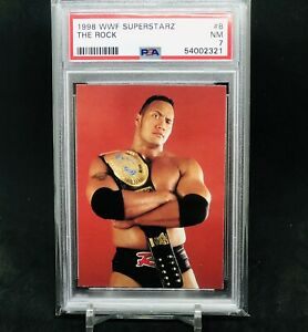 1998 WWF Comic Images Superstarz The Rock PSA 7 Wrestling Rookie Card RC WWE WCW