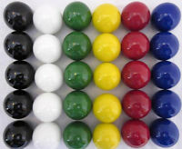 30 Large 1 (25mm) Replacement Marbles Aggravation Board Game Solid Color Glass