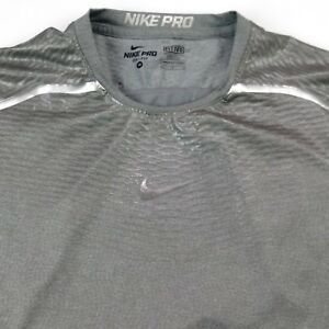 0dd390ff Nike Pro Dri-Fit Fitted Mens M Silver compression short sleeve shirt ...