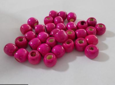 Large hole: 5mm BROWN A09 200pcs 12mm Wooden Round Pony Wood Beads