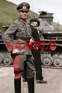 Desert Fox General Erwin Rommel WWII 8x10 Silver Halide Photo Print
