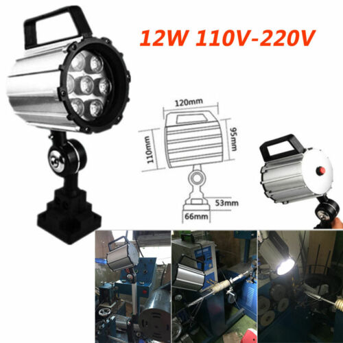 12W Milling Lathe LED Lighting Work Light L280mm 110V-220V CNC Grinder Engraving