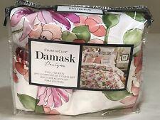 Charter Club Damask Designs Bouquet FULL /QUEEN Duvet Cover & Shams Floral Multi