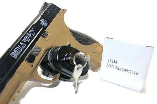 2 Key Gun Trigger Lock for Universal Firearms Pistol Rifle Shotgun FAST SHIPPING