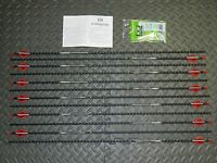12 Easton Fmj 340 Spine Arrows- Full Metal Jacket- 11.3 Gpi- Cut/inserted