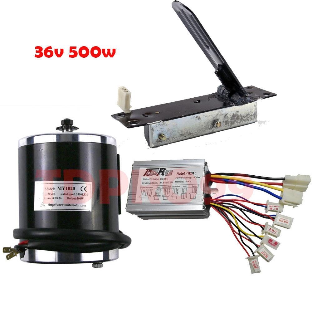 DC36V 500w Electric Motor Brush Controller + 1x Foot Pedal Thredtle For Go Kart