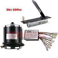 Dc36v 350w Electric Motor Brush Controller + 1x Foot Pedal Throttle For Go Kart