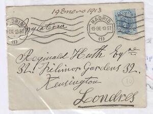 Espana-1913-cubrir-a-Londres-Historia-Postal-J4182