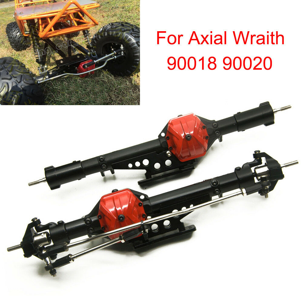 Aluminum Complete Front & Rear Axles fr 1/10 RC Crawler Axial Wraith 90018 90020