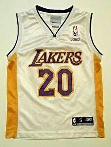 356c37826 LOS ANGELES LAKERS  20 GARY PAYTON JERSEY SIZE BOYS YOUTH SMALL 8 BY ...