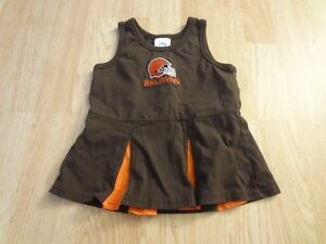 b5edadb6 Details about Infant/Baby Girls Cleveland Browns 18 Mo Cheerleader Cheer  Outfit Dress