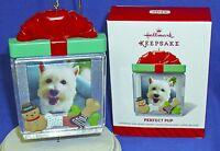 Hallmark Photo Holder Ornament Perfect Pup 2014 Puppy Dog Picture Frame