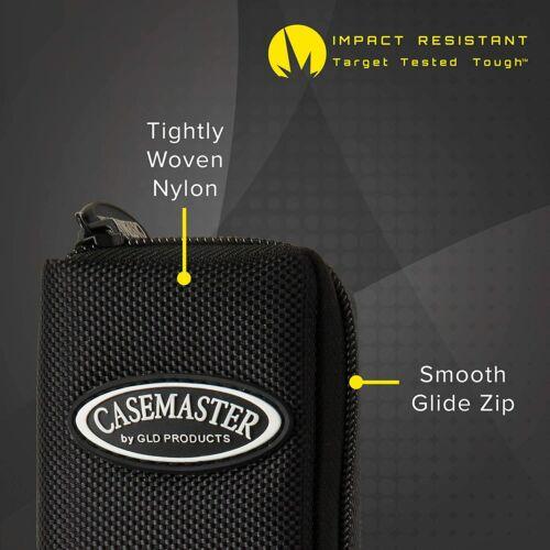 Casemaster Salvo Slim Black Nylon Dart Case 4 dart flight shaft tip