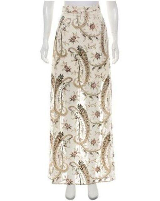 Zimmermann Paisley Silk Maxi Skirt Size 1