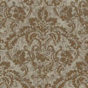 Wallpaper-New-Designer-Traditional-Faux-Antique-French-Style-Gold-Damask