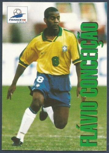 #054-BRAZIL /& DEPORTIVO LA CORUNA-FLAVIO DA CONCEICAO PANINI WORLD CUP 98