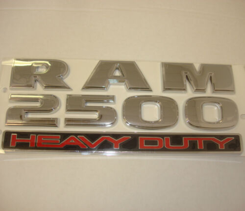 OEM Mopar NEW 2013-2018 RAM 2500 HEAVY DUTY Chrome Door Nameplate