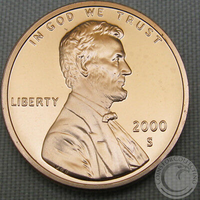 2000-S Proof Lincoln Memorial Cent Penny Deep Cameo FREE SHIPPING!