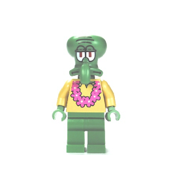 Lego Squidward with Pink Lei from Set 3818 Spongebob Squarepants NEW bob035