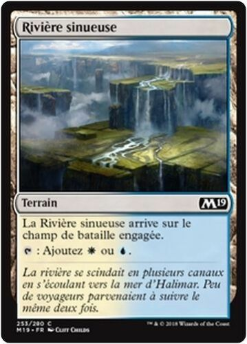 MTG Magic M19 - x4 French//VF Meandering River//Rivière sinueuse