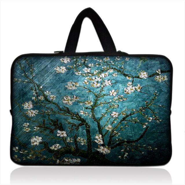 "Van Gogh Blue flower Carry Sleeve Hand Bag For 7"" 10"" 12"" 13"" 14"" 15"" 17"" Laptop"