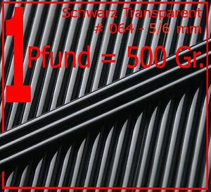 Schwarz-Transparent-5-6mm-per-Pfund-zum-Sonderpreis-Effetre-Glasstaebe-T064