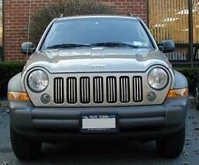 JEEP LIBERTY CHROME GRILL TRIM KIT 02 03 04 05 06 07