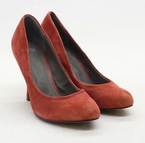 Asos Womens UK Size 4 Orange Suede Heels