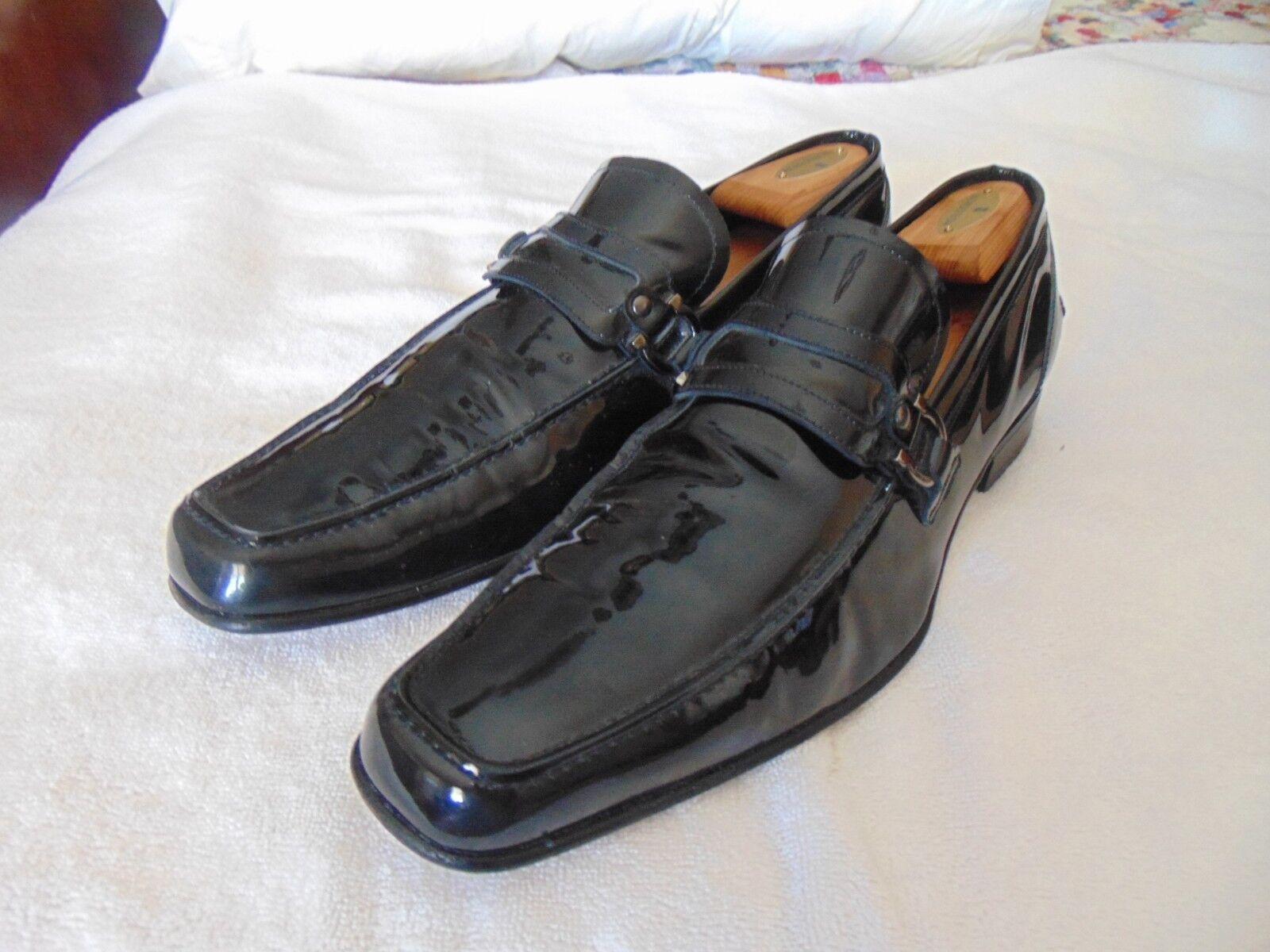 Classic Salvatore Ferragamo Dress Business Double Gancio Bit Lear Loafers 13 D T