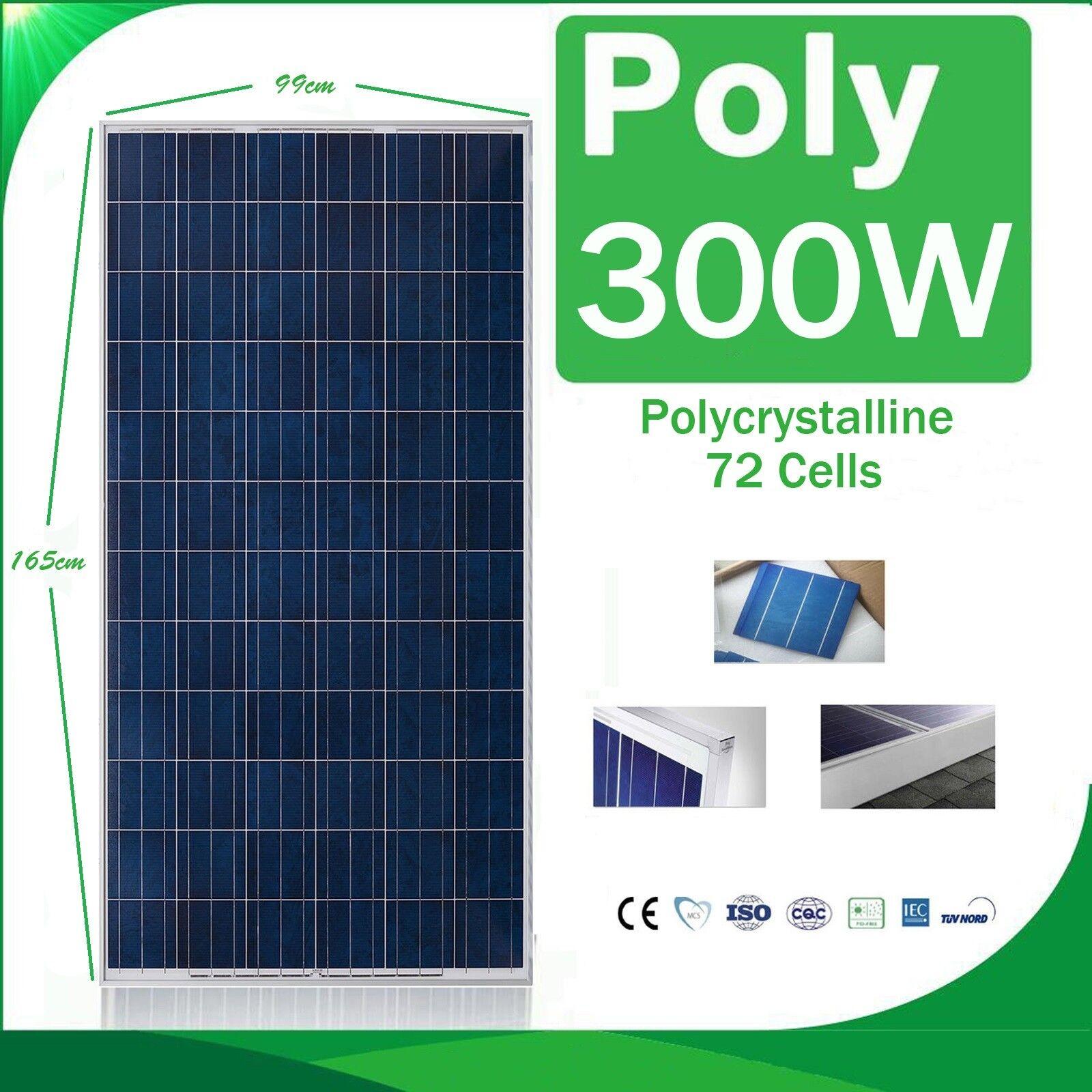 Placa Solar 300w Panel Solar 24v Fotovoltaico Polycrystalline 12v 24v 48v