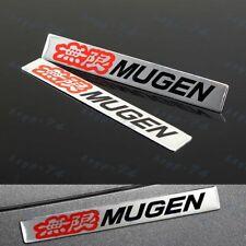 MUGEN POWER Metal Emblem Car Trunk Side Wing Fender Badge Sticker for HONDA X2