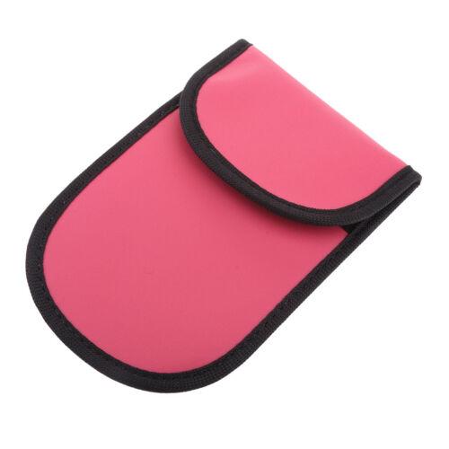 Red Car Key Signal Tracking Blocker Case Faraday Cage Fob Pouch Bag
