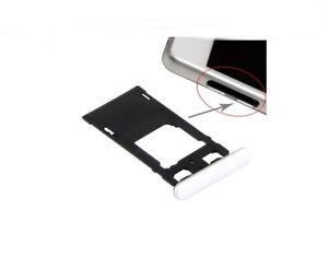 Fach Unterstützung Brieftasche Karten Dual-Sim Und Wi-F Für Sony Xperia X Weiß