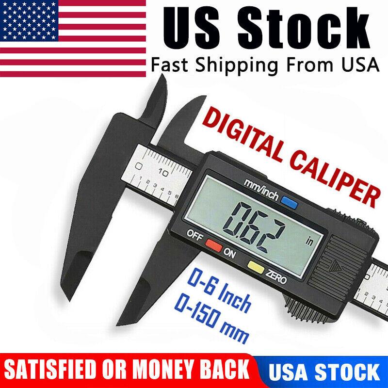 Electronic Vernier Caliper Micrometer Digital Meter Gauge Measuring Ruler Q1I8