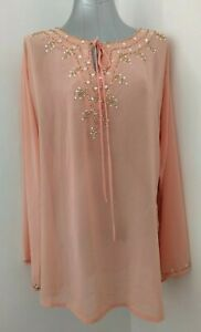 LADIES-EMBELLISHED-TUNIC-BY-TOGETHER-SIZE-18-HOLIDAY-CRUISE-PARTY-SMART