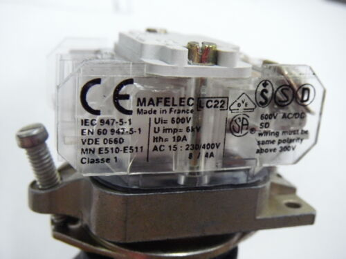 Mafelec YSK578D0 Momentary Mushroom Push Button Bump Switch Normally Open