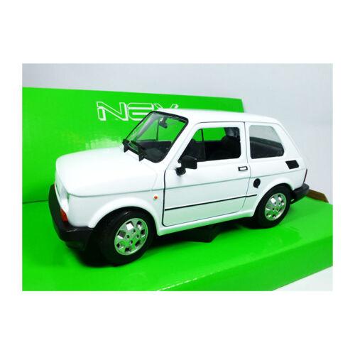 Welly 24066 Fiat 126 Bianco Scala 1:24 Modellino Auto Nuovo °