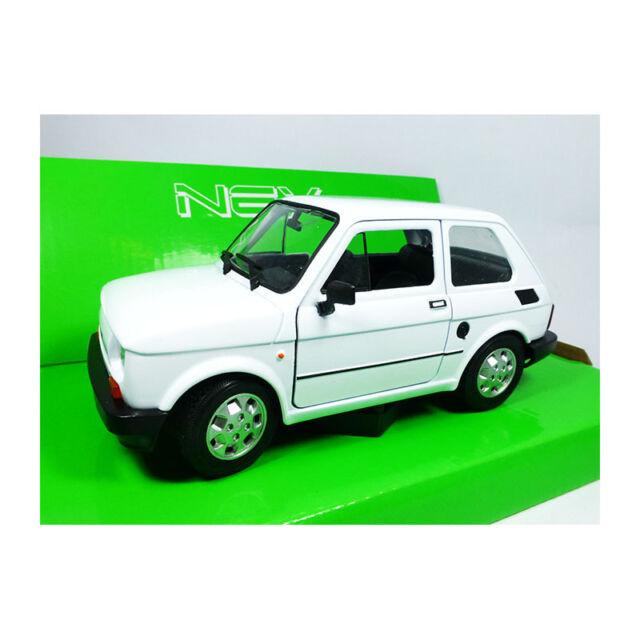 Fiat 126 blanc 1:24 1:21 WELLY voiture miniature