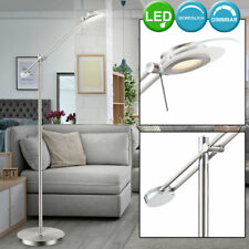 LED Steh Lampe Wohn Zimmer Decken Fluter Chrom Büro Stand Lese Leuchte beweglich