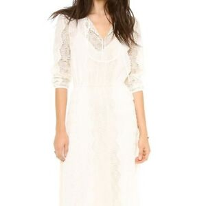 Details About Twelfth Street By Cynthia Vincent Ivory Embroidered Lace Boho Maxi Dress S Cg