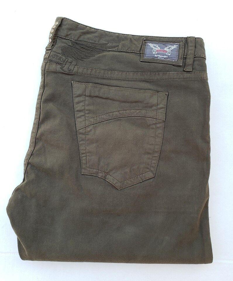 24b477b7 New Men'S ROBIN'S JEAN sz 44 D5471IND MARLON Straight Leg Pants _Drk Green