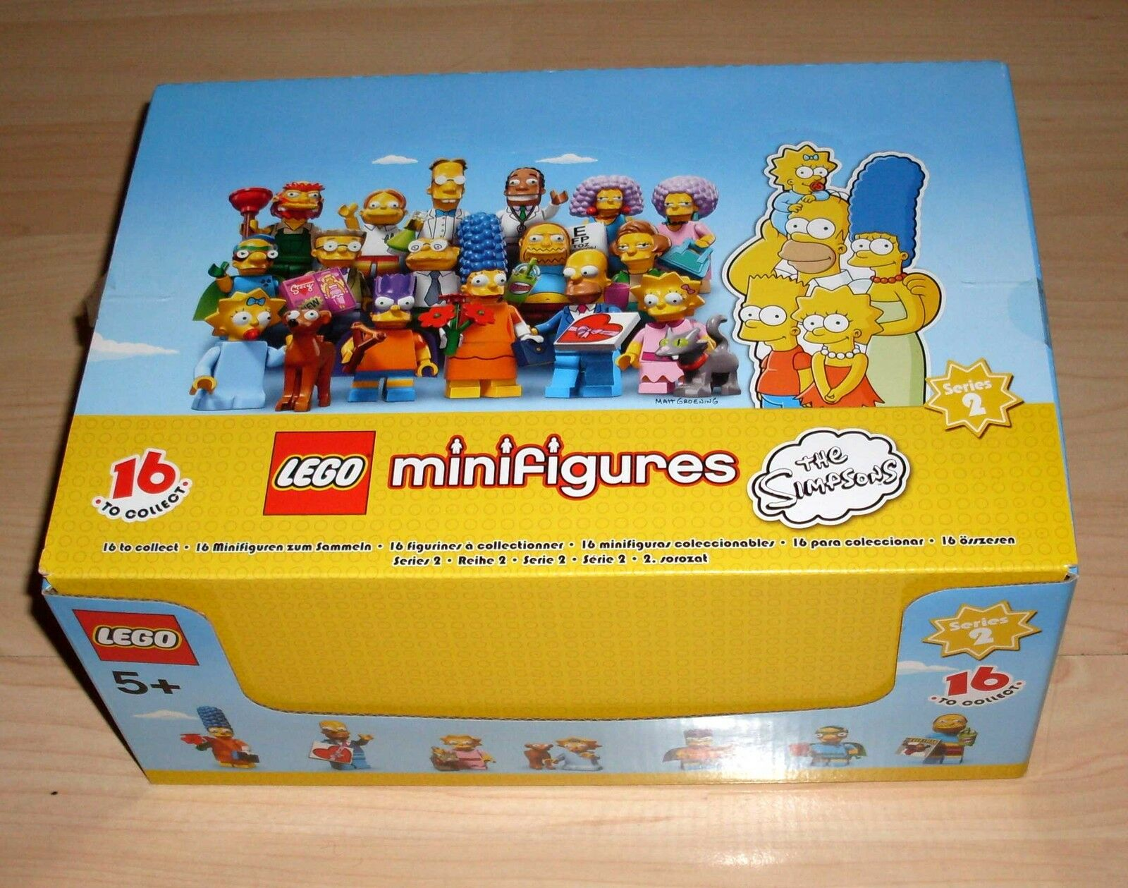 Lego Die Simpsons Serie 2 - 60 Figuren Gesamtbox Display Karton Tütchen Neu OVP