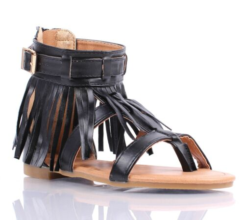 3 Color Youth Size Casual Indian Style Fringe Kids Cute Girls Gladiators Sandals