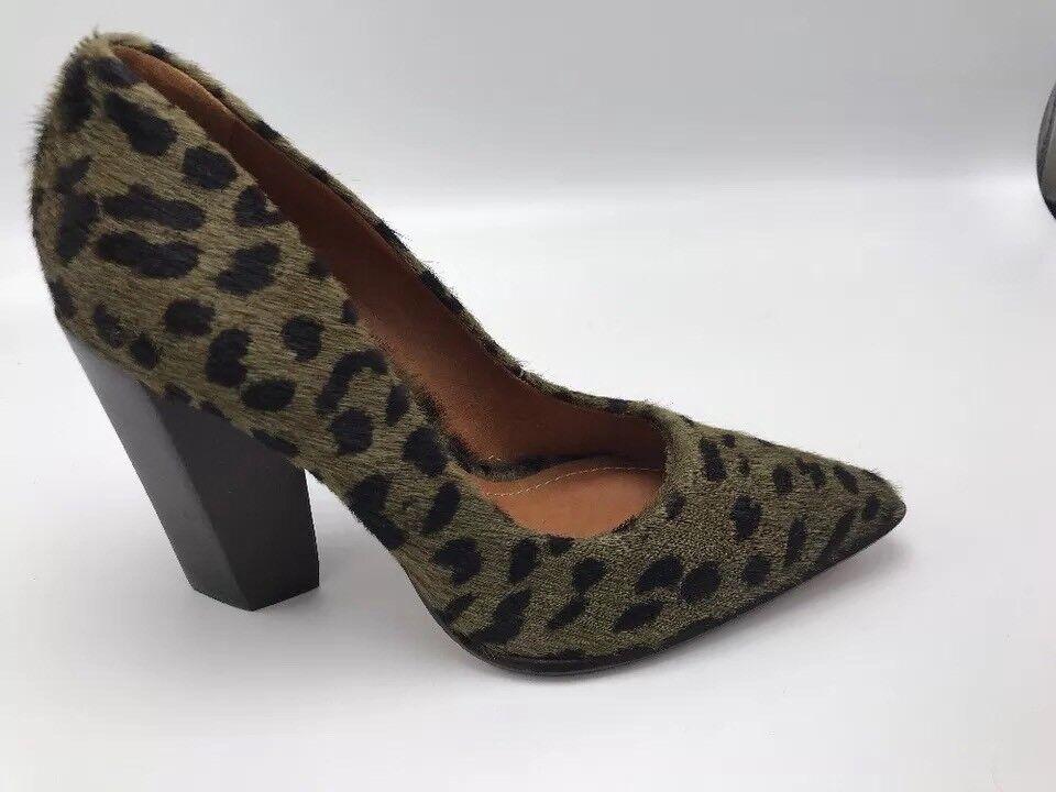 Mujer Carrano Estampado de Guepardo Amontonado Amontonado Guepardo Tacones Zapatos Cuero Made Brasil 966194