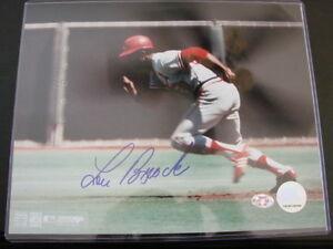 Lou-Brock-Autograph-Signed-8-X-10-Photo-St-Louis-Cardinals